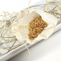 FREE SHIPPING - Energizing scented Potpourri Sachet 3x5 Muslin Bag -- Home/Car Fragrance