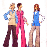 SALE - 1970s Young Junior Teen's Tunic Trousers and Blouse / Uncut Vintage Sewing Pattern / Style 4258