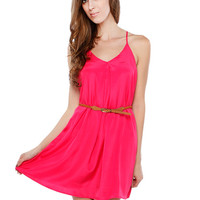 CHIFFON BELT DRESS