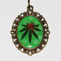 Mistlestoned Pendant Necklace