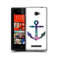 HEAD CASE ANCHOR HIPSTERISM DESIGN HARD BACK CASE COVER FOR HTC WINDOWS PHONE 8X
