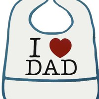 Okutani I Love Dad Baby Bib Kids Accessories at Broken Cherry