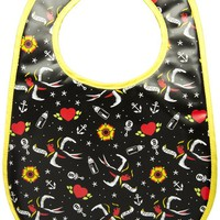 Sourpuss Mom & Dad Tattoo Bib Kids Accessories at Broken Cherry