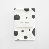 Organic Cotton Modern Black and White Polka Dot Swaddling Blanket