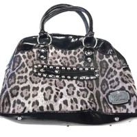 Rock Rebel Grey Leopard Purse Accessories Purses at Broken Cherry