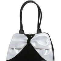 Lux de Ville Lady Lux Kisslock Black and White Sparkle Accessories Purses at Broken Cherry