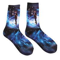 Doctor Who TARDIS Galaxy Crew Socks