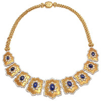 GIANMARIA BUCCELLATI Diamond & Sapphire Yellow Gold Necklace