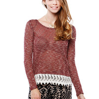 BOHEMIAN LACE KNIT TOP