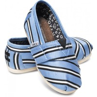 TOMS+ Tabitha Simmons Blue Cricket Stripe Tiny Classics