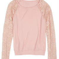 Brushed Lace Long-Sleeve