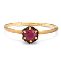 Catbird :: shop by category :: JEWELRY :: Rings :: Hexagon Ring, Ruby