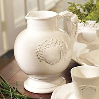 Italian White Pitcher
