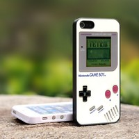 classic gameboy white - For iPhone 5 Black Case Cover