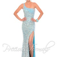 Precious Formals P9017 Sparkly One Shoulder