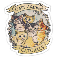 Cats Against Cat Calls iPhone & iPod Cases
