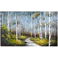 Blue Birch Trees Art