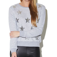 Sequin Star Sweatshirt | Wet Seal