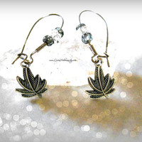Marijuana earrings,Marijuana Leaf,Weed Earrings, 420, Hipster, Hippie, Direct checkout, Ready to ship