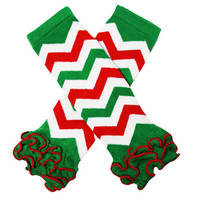 Kutsie Baby Holiday Chevron Legwarmers with Ruffles