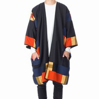 JAN JAN VAN ESSCHE MIDNIGHT AURORA PATCHWORK KIMONO - MEN - OUTERWEAR - JAN JAN VAN ESSCHE
