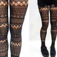 Aztec Geometric Fishnet Tights/ Pantyhose