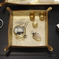 GOLD LEATHER CATCHALL