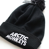 Arctic Monkeys Beanie Hat AM R U mine logo band gig chart bobble hat H001
