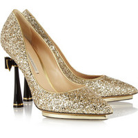 Nicholas Kirkwood Glitter-finished leather pumps – 64% at THE OUTNET.COM