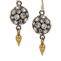 Lulu Frost Gold-tone crystal earrings – 50% at THE OUTNET.COM