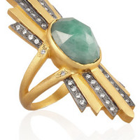 Kevia Gold-plated crystal ring – 50% at THE OUTNET.COM