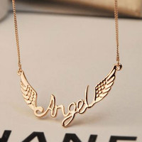 Angel's Wing Statement Necklace