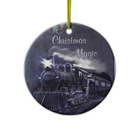 Christmas Magic Vintage Train Ornament