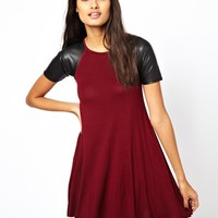 Club L PU Sleeve Swing Dress