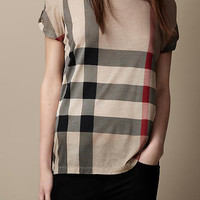Printed Check T-Shirt