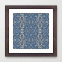 Frozen Blue Framed Art Print by Project M