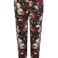 Winter Rose Print Audrey Trouser