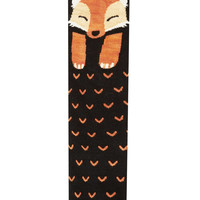 Black Fox Knee High Socks