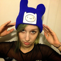 Adventure Time Finn the Human Beanie // Blue Beanie// Kawaii