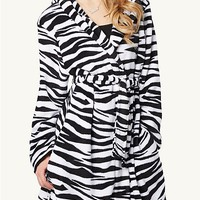 Zebra Plush Robe | Robes | rue21