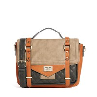 Metal Keepers Color Block Satchel