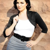 Perfect Pinup Bolero in Black Ponte