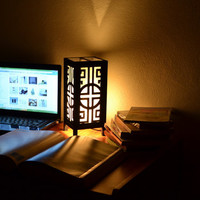 Japanese Black and White Bed Room Night Light Lantern House Light Furniture Decoration 11 inch High