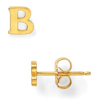 Dogeared Single Initial Earring
