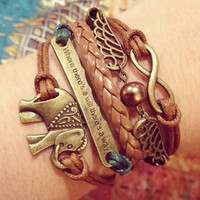 NEW Inspirational Boho Bracelet, Saying Phrase Bracelet, Where Theres A Will Theres A Way, ForTheWristAndSoul