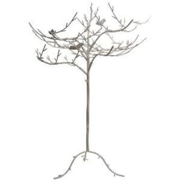 Pariscope Design - Whimsical Iron Tree With Birds In The Branches Sculpture - 1stdibs