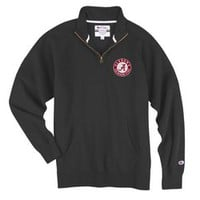 Alabama Crimson Tide Quarter Zip Sweatshirt Charcoal 4395544
