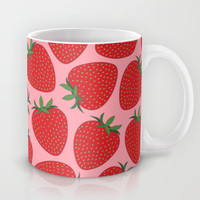 Strawberries Mug by Ornaart