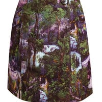 CARVEN | Jungle Printed Silk-blend Miniskirt | Browns fashion & designer clothes & clothing