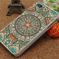 Mandala iPhone 4/4s/4g Case,Mandala pattern iPhone 5 Silicone Rubber Case,Mandala cover skin case for iphone 4s case,iPhone 5 cover